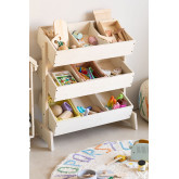 Yerai houten opbergkast voor speelgoed voor kinderen, miniatuur afbeelding 1