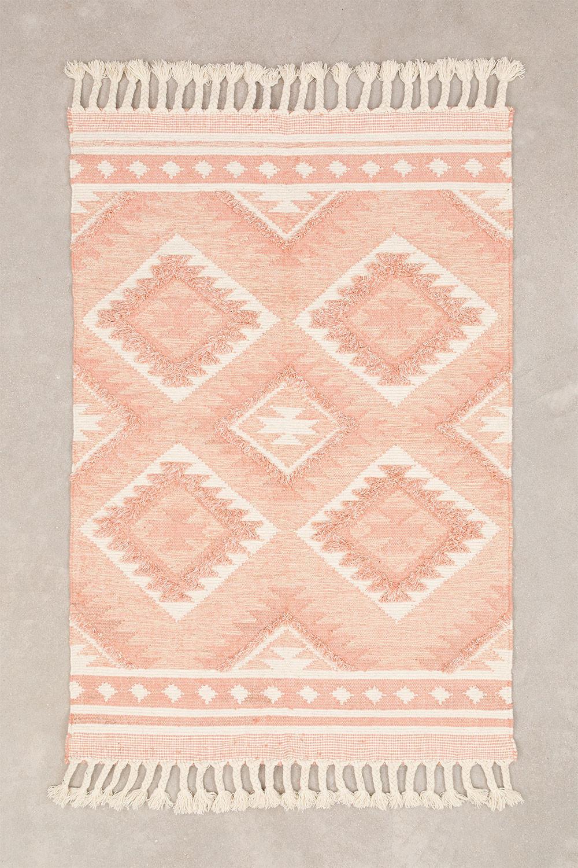 Vloerkleed van wol en katoen (210x145 cm) Roiz, galerij beeld 1