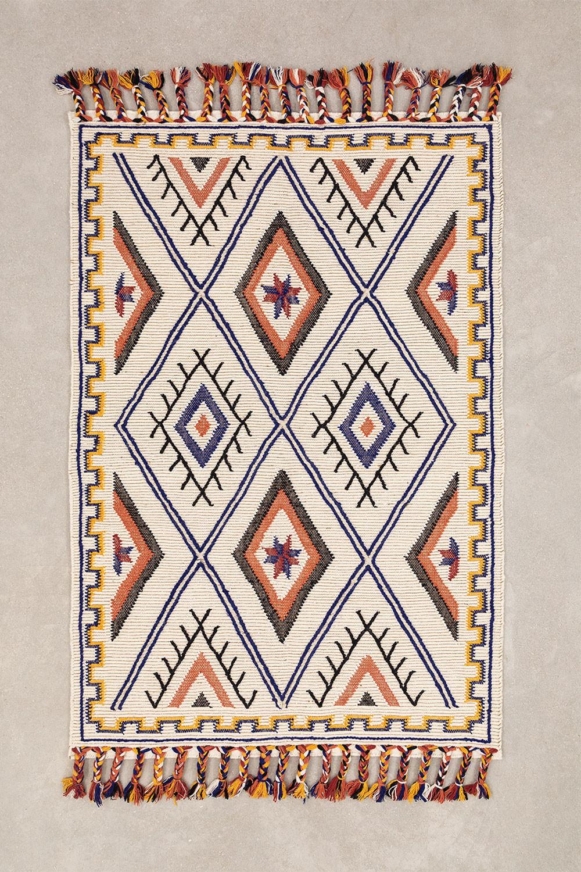Vloerkleed van wol en katoen (205x140 cm) Nango, galerij beeld 1