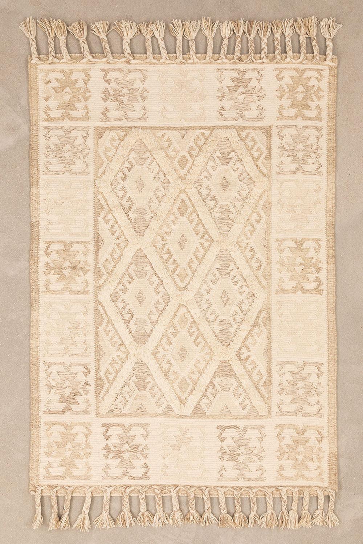 Tapijt van wol en katoen (205x140 cm) Takora, galerij beeld 1
