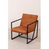 Zelan lederen fauteuil, miniatuur afbeelding 2