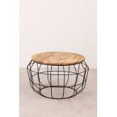 Ronde salontafel in gerecycled hout en staal (Ø72 cm) Koti, miniatuur afbeelding 2