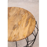 Ronde salontafel in gerecycled hout en staal (Ø72 cm) Koti, miniatuur afbeelding 3