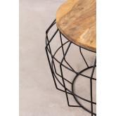 Ronde salontafel in gerecycled hout en staal (Ø72 cm) Koti, miniatuur afbeelding 4