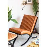 Revyan lederen fauteuil, miniatuur afbeelding 1