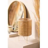 Tafellamp in rotan en metalen Muit, miniatuur afbeelding 1