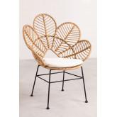 Rinum fauteuil van synthetisch rieten, miniatuur afbeelding 2