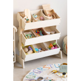 Decker houten gereedschapskist voor kinderen , miniatuur afbeelding 5