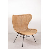 Isdra fauteuil van synthetisch rieten, miniatuur afbeelding 2