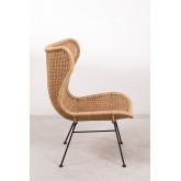 Isdra fauteuil van synthetisch rieten, miniatuur afbeelding 3