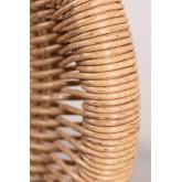 Isdra fauteuil van synthetisch rieten, miniatuur afbeelding 6
