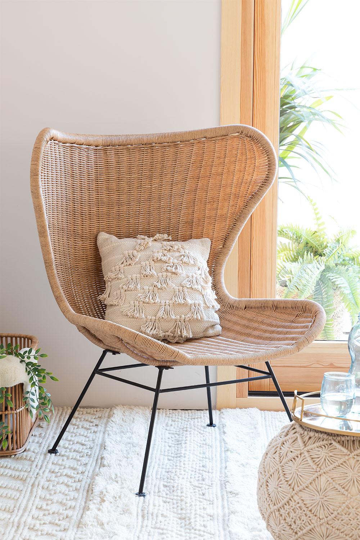 Isdra fauteuil van synthetisch rieten, galerij beeld 1