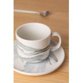 Set van 4 koffiekopjes met bord in porselein Boira, miniatuur afbeelding 2