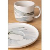 Set van 4 koffiekopjes met bord in porselein Boira, miniatuur afbeelding 3