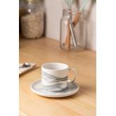 Set van 4 koffiekopjes met bord in porselein Boira, miniatuur afbeelding 1