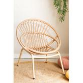 Kletta fauteuil van synthetisch rieten, miniatuur afbeelding 1