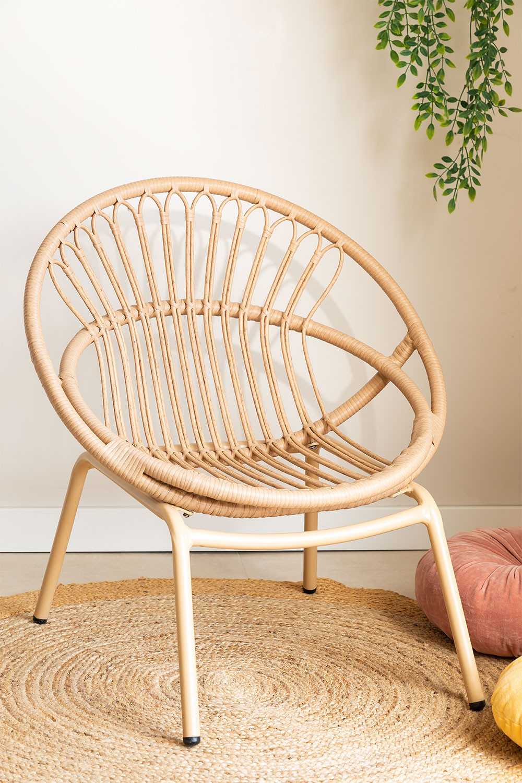 Kletta fauteuil van synthetisch rieten, galerij beeld 1