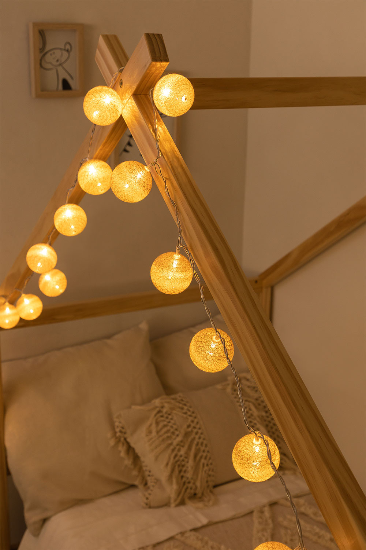 Natuurlijke Led String Lights Adda, galerij beeld 1