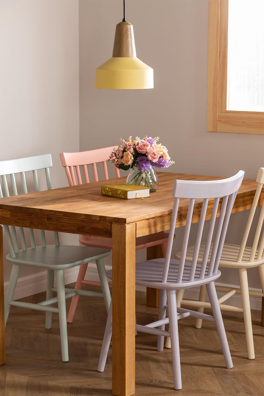 Shor Colors houten eetkamerstoel, galerij beeld 1