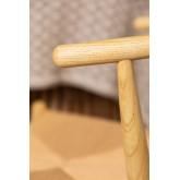 Uish Retro houten eetkamerstoel, miniatuur afbeelding 6