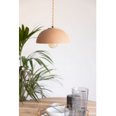 Plafondlamp in porselein Ouval, miniatuur afbeelding 1