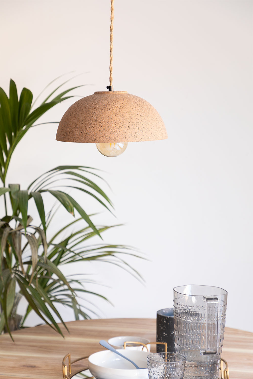 Plafondlamp in porselein Ouval, galerij beeld 1