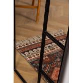 Wandspiegel in metalen raameffect (180x80 cm) Diana, miniatuur afbeelding 5