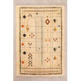 Katoenen vloerkleed (180x125 cm) Grafic, miniatuur afbeelding 1