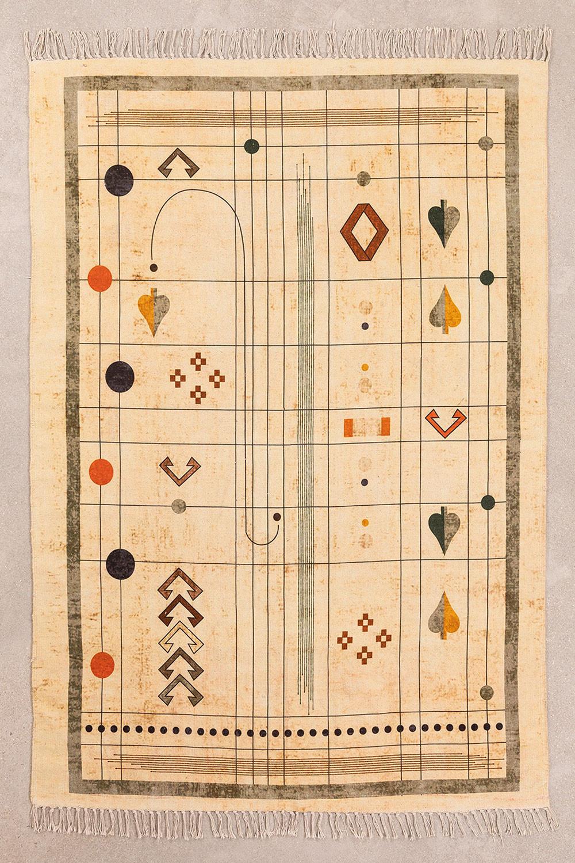 Katoenen vloerkleed (180x125 cm) Grafic, galerij beeld 1