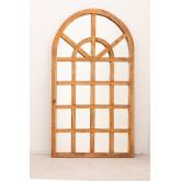 Spiegel van gerecycled hout (149x87 cm) Vient, miniatuur afbeelding 2