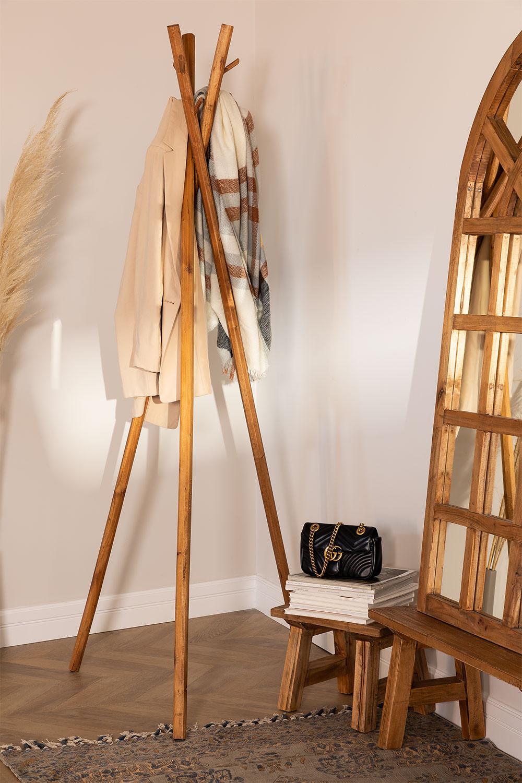 Varah-kapstok van gerecycled hout, galerij beeld 1
