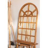 Spiegel van gerecycled hout (149x87 cm) Vient, miniatuur afbeelding 1