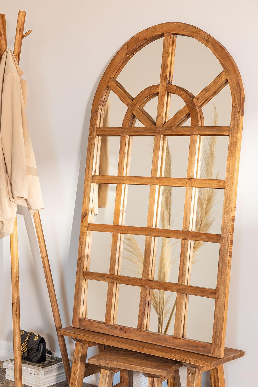 Spiegel van gerecycled hout (149x87 cm) Vient, galerij beeld 1