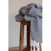 Geruite deken in Tajum katoen, miniatuur afbeelding 1
