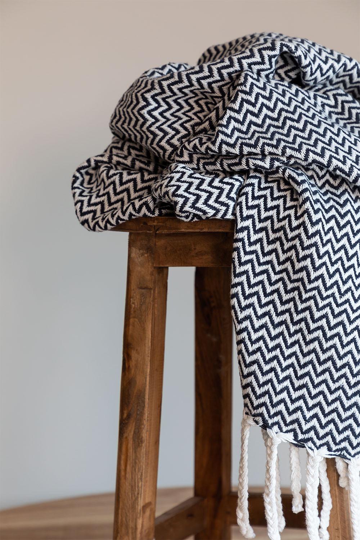 Geruite deken in Tajum katoen, galerij beeld 1
