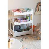 Rielle Kids Houten Toy Organizer Cabinet, miniatuur afbeelding 1