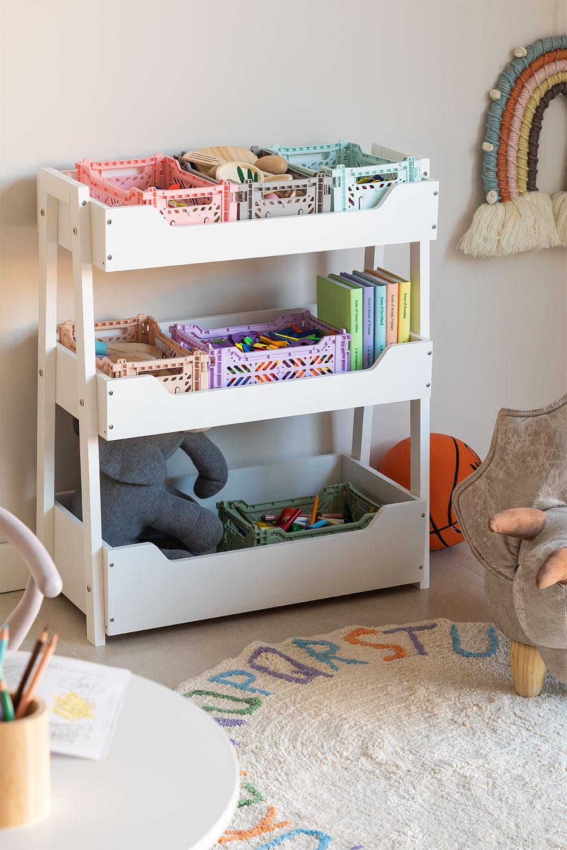 Rielle Kids Houten Toy Organizer Cabinet, galerij beeld 1