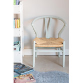 Mini Uish Kids Wooden Chair , miniatuur afbeelding 1