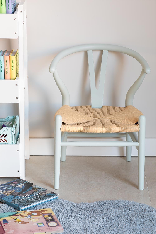 Mini Uish Kids Wooden Chair , galerij beeld 1