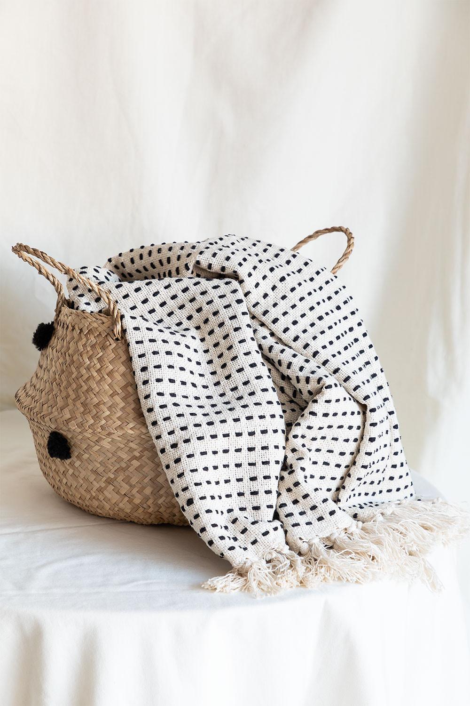 Aryas katoenen plaid deken, galerij beeld 1