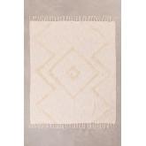 Geruite deken in neutraal katoen, miniatuur afbeelding 1