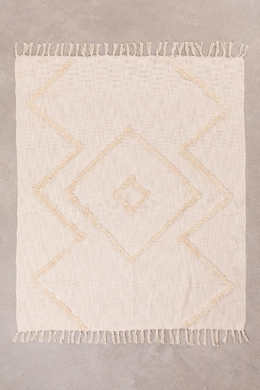 Geruite deken in neutraal katoen, galerij beeld 1