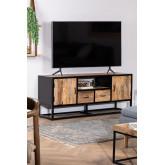 Bavi Wood TV-meubel, miniatuur afbeelding 1