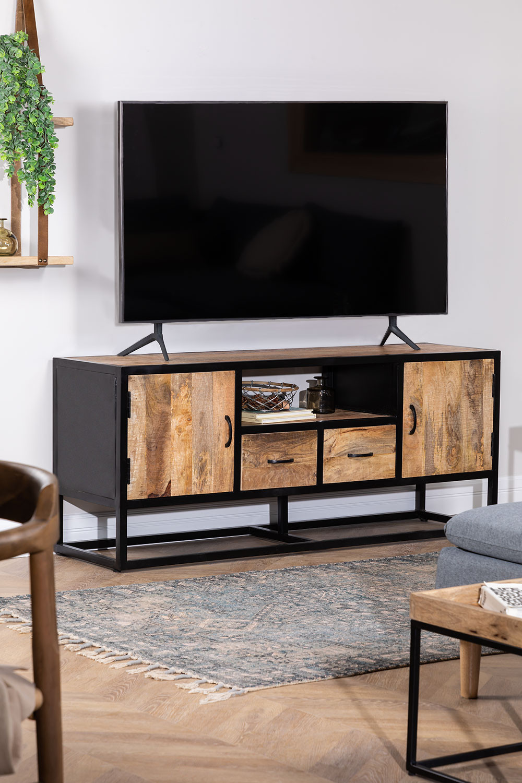 Bavi Wood TV-meubel, galerij beeld 1
