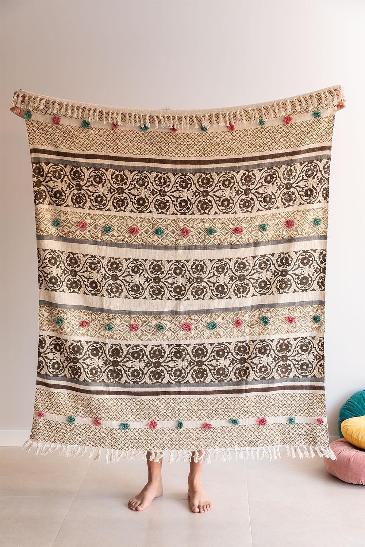 Geruite katoenen deken Betsi, galerij beeld 1
