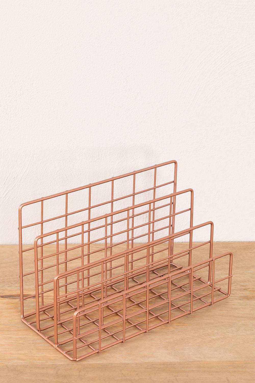 Metalen tijdschriftenrek met vakken Bok, galerij beeld 1