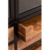 Emberg houten vitrinekast met lades, miniatuur afbeelding 4