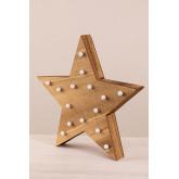 Houten ster met led-verlichting Lliva, miniatuur afbeelding 2