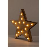 Houten ster met led-verlichting Lliva, miniatuur afbeelding 3