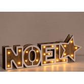 Noel houten bord met led-verlichting, miniatuur afbeelding 3